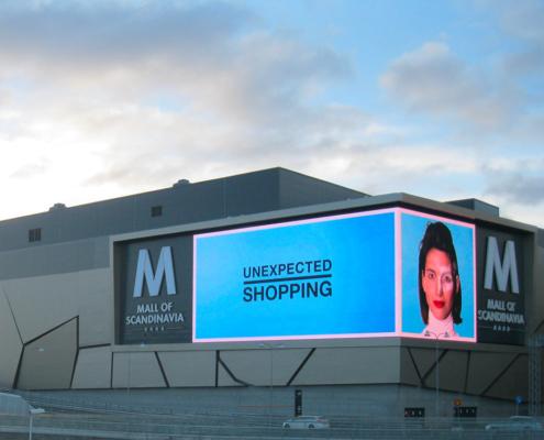 Altoona LED Screen - Mall of Scandinavia - Sweden